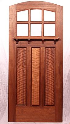 The Lucky Seven Bungalow Door & Fine Custom Wood Doors by Mendocino Custom Doors ~ Arched Top Doors