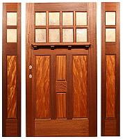 The Laguna Bungalow Entry & Fine Custom Wood Doors by Mendocino Custom Doors ~ Exterior and ...
