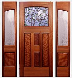 The Zen Craftsman Entry & Fine Custom Craftsman Doors by Mendocino Custom Doors