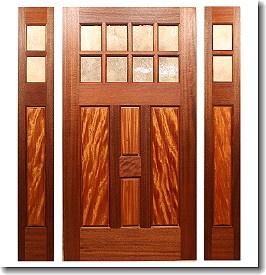 The Ridgewood Entry & Fine Custom Prairie Style Doors by Mendocino Custom Doors