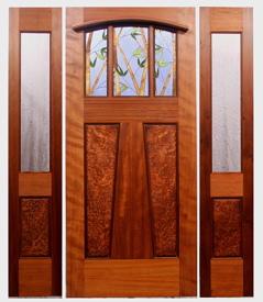 Fine custom prairie style doors by mendocino custom doors for Jali wala door designs